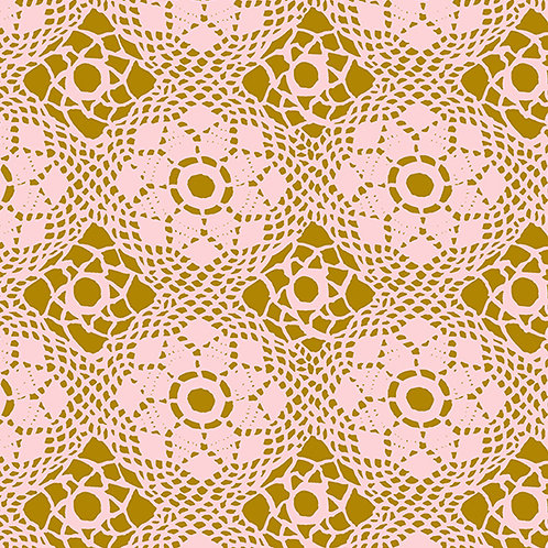 Handiwork Blush Crochet Yardage by Alison Glass for Andover Fabrics