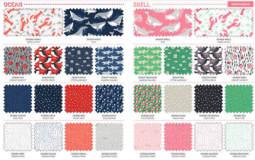 Acadia |Full Collection Fat Quarter by Betsy Siber