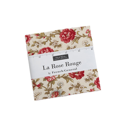 La Rose Rouge Charm Pack by French General for  Moda Fabrics