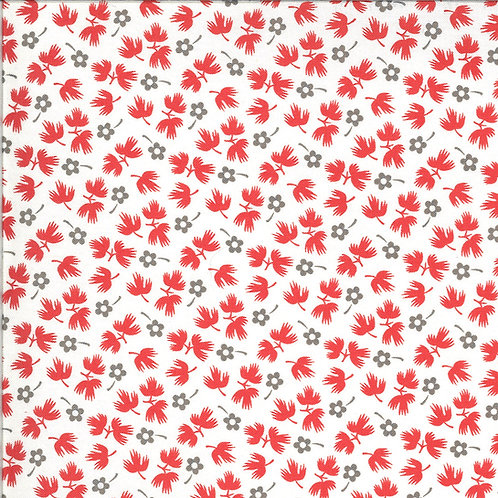 Figs and Shirting | Sugar Sack Barn Red for Fig Tree Quilts By Moda Fabrics