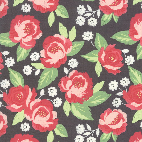 Bloomington Charcoal Faded Bloom By Lella Boutique for Moda Fabric