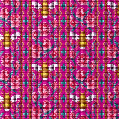 Handiwork Dahlia Beadwork Yardage by Alison Glass for Andover Fabrics