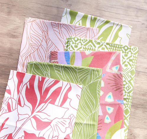 Lisbon Love Fat Quarter Bundle by Pink Free From Paint Brush Fabrics