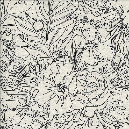 Moody Bloom Digital | Mochi Linen Natural By Create Joy Project For Moda Fabrics