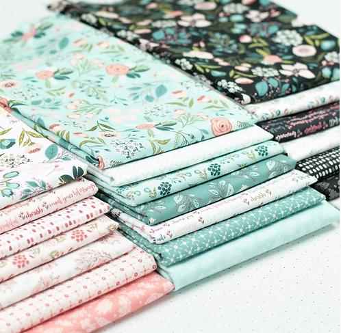 Cherished Moments Fat Quarter Bundle by Lori Woods For Poppie Cotton Fabrics