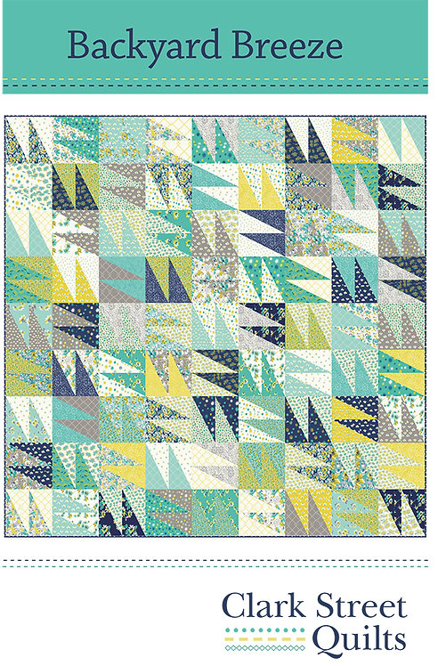 Backyard Breeze Quilt Pattern featuring Flour Garden Collection by Linz