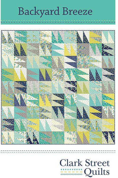 Backyard Breeze Quilt Pattern featuring Flour Garden Collection by Linz