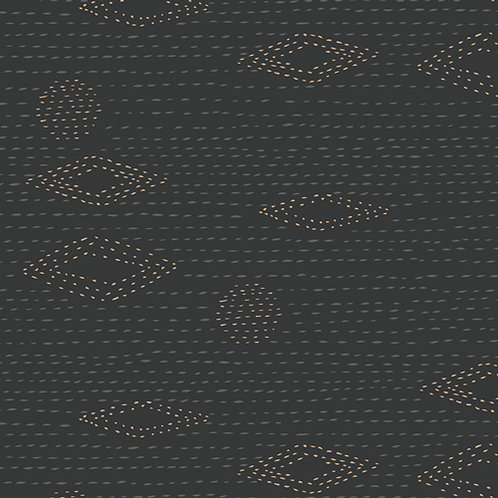 Kismet Kantha Charcoal by Sharon Holland for Art Gallery Fabrics