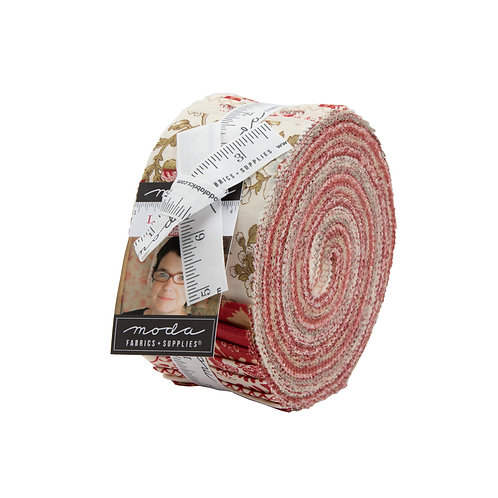 La Rose Rouge Jelly Roll by French General for  Moda Fabrics
