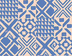 Lisbon Love | Lisbon Blue by Pink Free From Paint Brush Fabrics