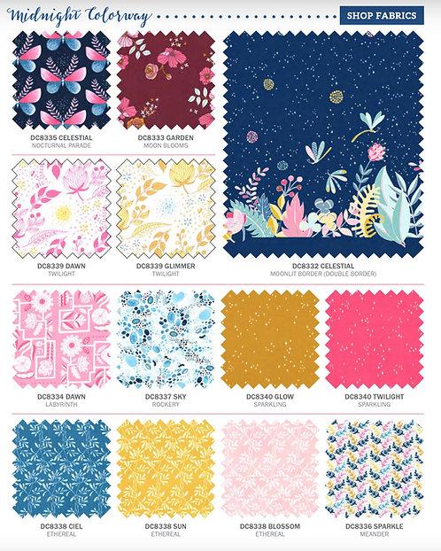 Night Garden |Midnight Color Way By Tamara Kate Fat Quarter Bundle
