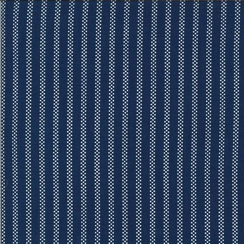 Homestead Pin Stripe Midnight By April Rosenthal For Moda Fabrics
