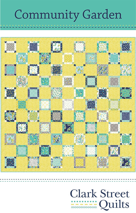 Community Garden Quilt Pattern featuring Flour Garden Collection by Linzee Kull