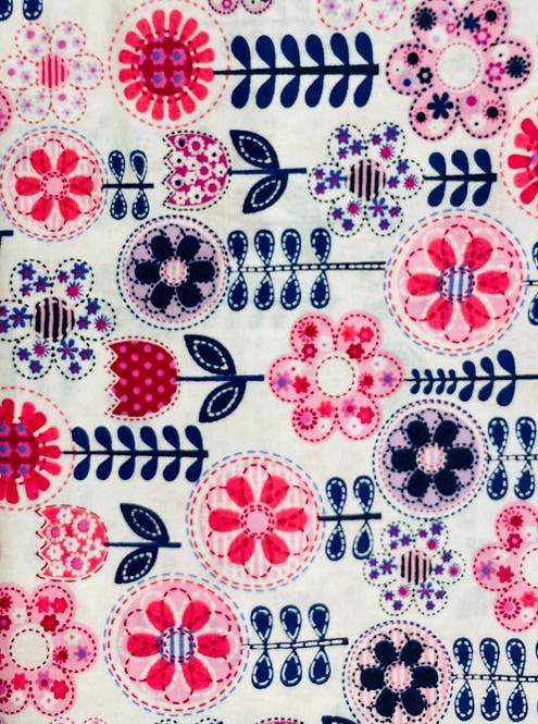 Remnant  1 Yard Cut Fantasy Flower by Michael Miller Fabrics