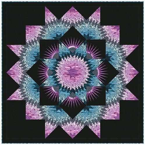 Mardi Grass Quilt Kit - Strata by Michael Miller Fabrics