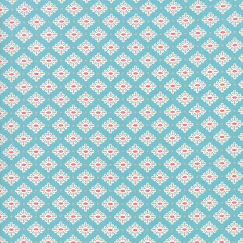 Bloomington Teal Teatime By Lella Boutique for Moda Fabric