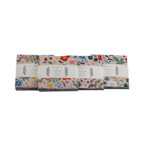 Strawberry Field Charm Pack By Rifle Paper Co. for Cotton and Steel