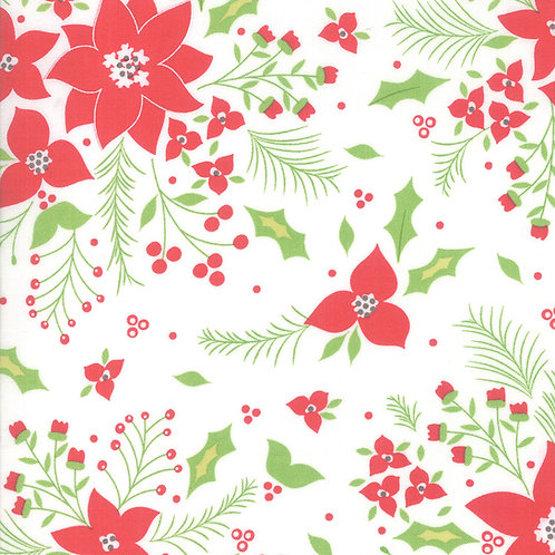 Holliberry | Snow Poinsettia By Corey Yoder for Moda Fabrics