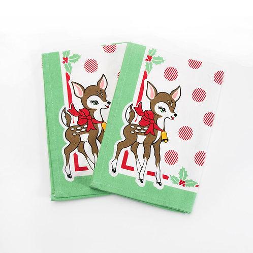 Deer Christmas Napkins by Urban Chiks for Moda Fabrics
