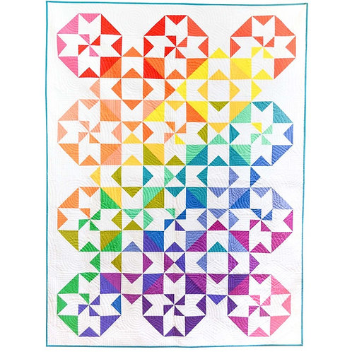 Color Wheel Quilt Kit By Michael Miller Fabrics