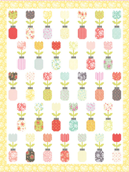 Freshly Cut Quilt Kit featuring Canning Day Collection by Corey Yoder
