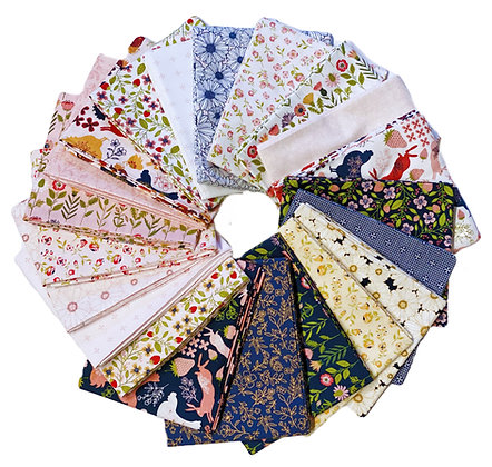 Daisy Mae Fat Quarter Bundle by Lori Woods For Poppie Cotton Fabrics