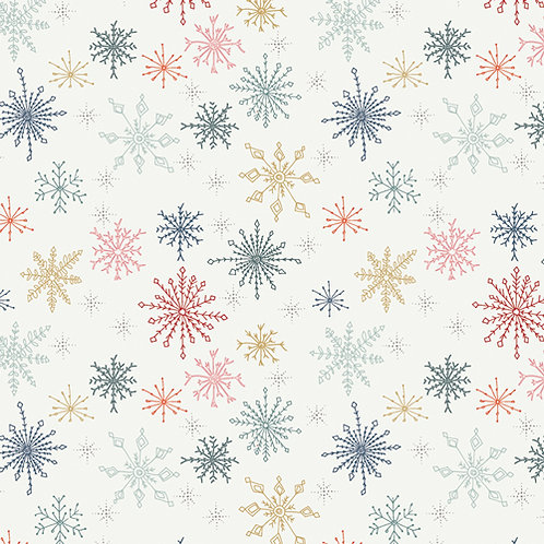 Cozy and Joyful Make Snow Flurries By Maureen Cracknell for Art Ga