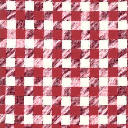 Homegrown Holiday Buffalo Plaid Red By Deb Strain for Moda Fabrics
