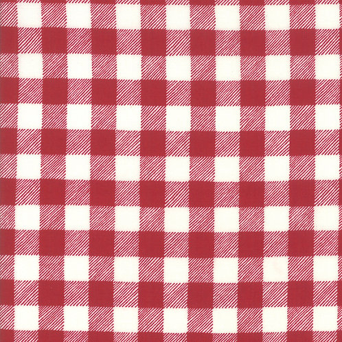 Homegrown Holiday Buffalo Plaid Red By Deb Strain for Moda Fabrics