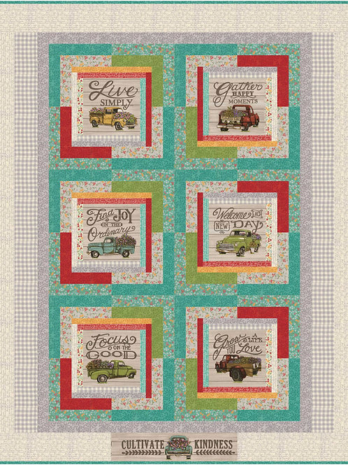 Life is Good Quilt Kit Featuring Cultivate Kindness By Deb Strain