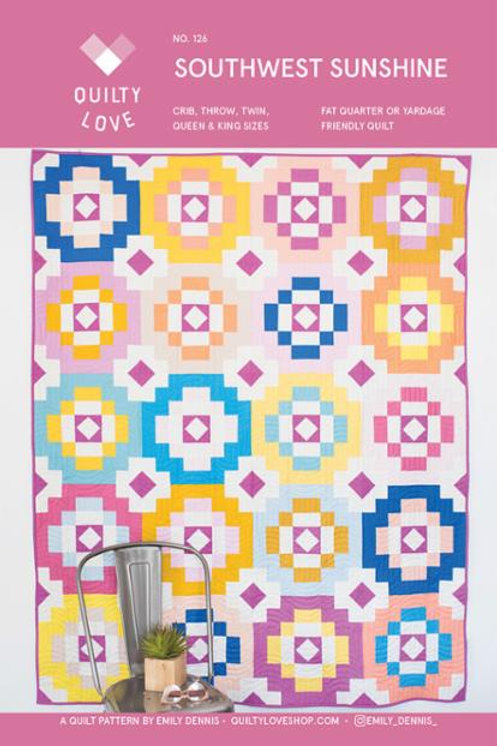 Southwest Sunshine Quilt Pattern by Emily of Quilty Love.