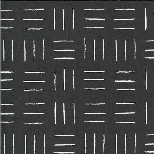 Zoology | Charcoal Opposing Lines by Gingiber For Moda Fabrics