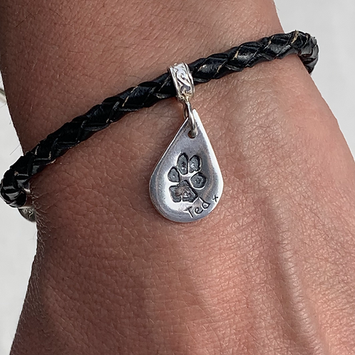 Personalised Silver Pet Print Charms