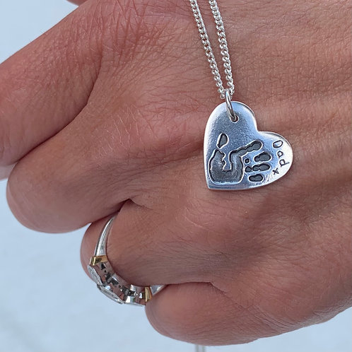 Personalised Silver Hand or Foot Print Charms