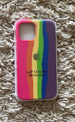 Capa Rainbow de silicone para celular