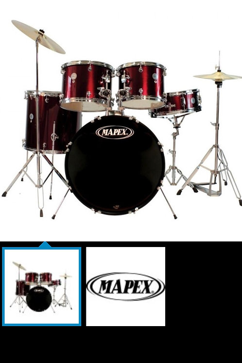 MAPEX PRODIGY 5PC DRUMKIT DARK RED 10X8MT 12X9MT 14X14FT 20X16BD 14X5SD WITH HAR