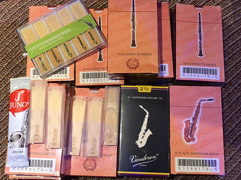 Reeds Saxophones, Clarinets.
