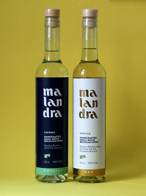 Malandra Set (Malandra Crystal + Malandra Oak, 2x500mL, 40%vol.)