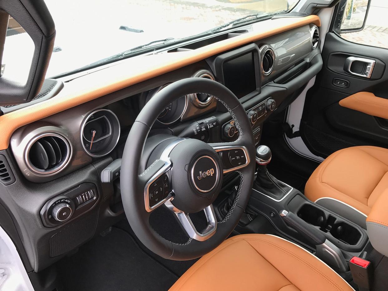 Tan and Grey Jeep Interior
