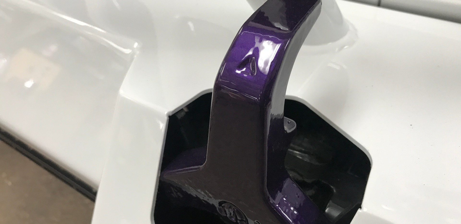 White and Purple Tow Hook