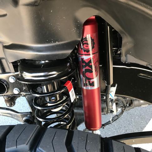 Matte Red Jeep Wrangler Shocks