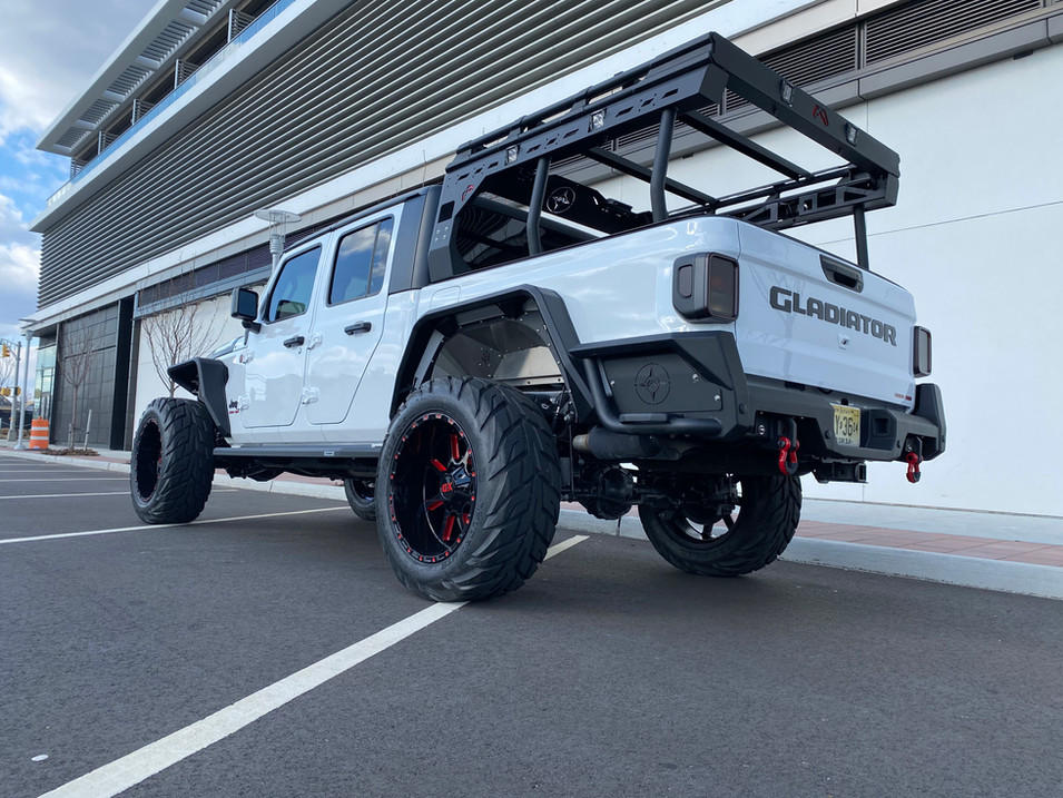 White, Black and Red Jeep Gladiator