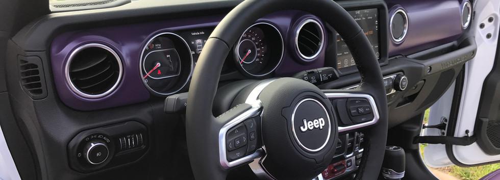 Black, White and Purple Interior