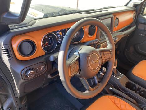 Black and orange coated Gladiator