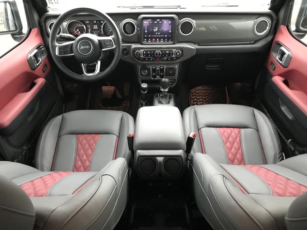 Sting Grey Jeep Sahara Interior