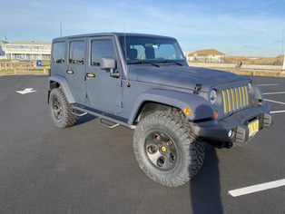 Andrew's Blue & Yellow Jeep JK - 2012