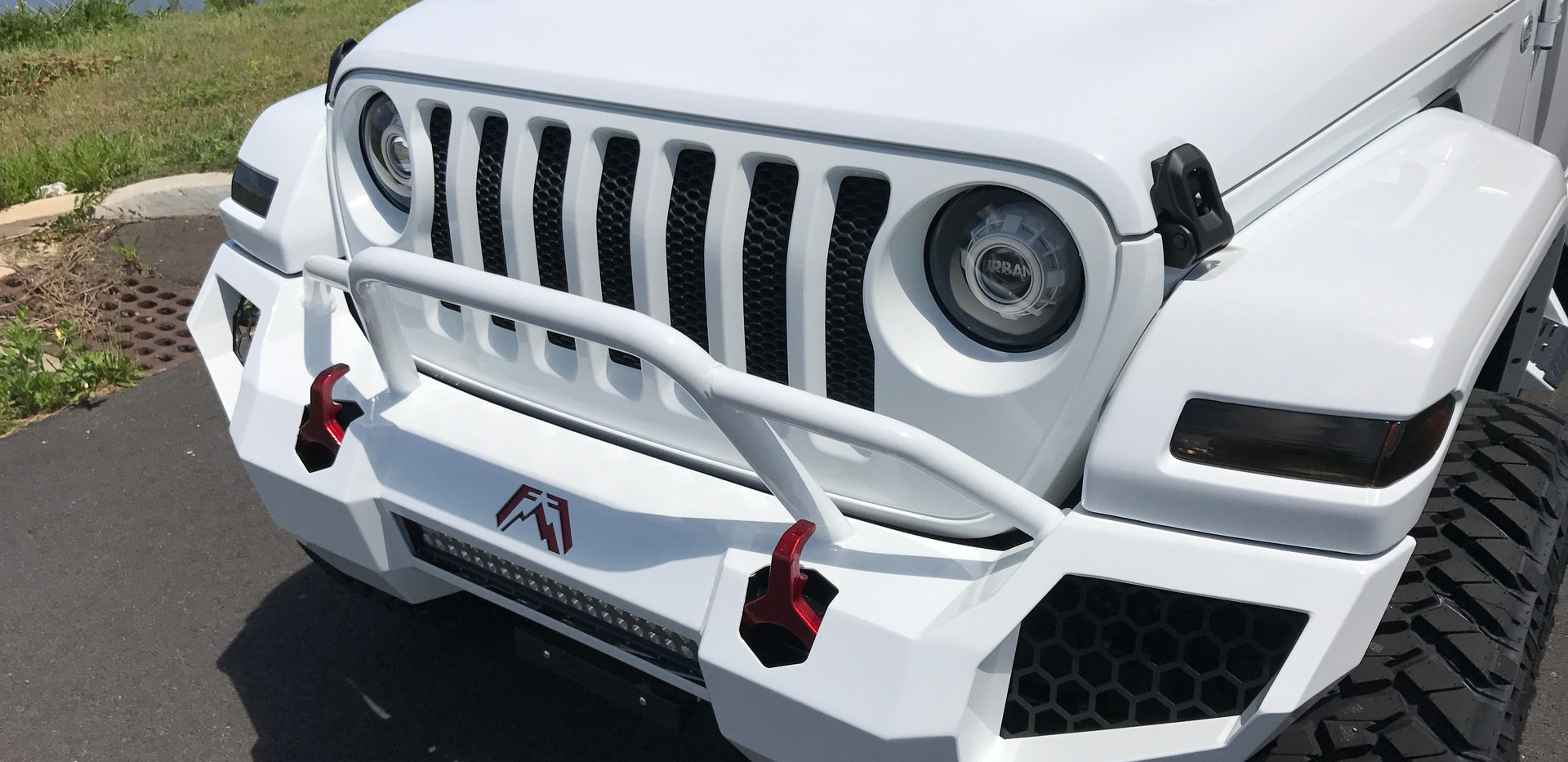 White and Black Jeep