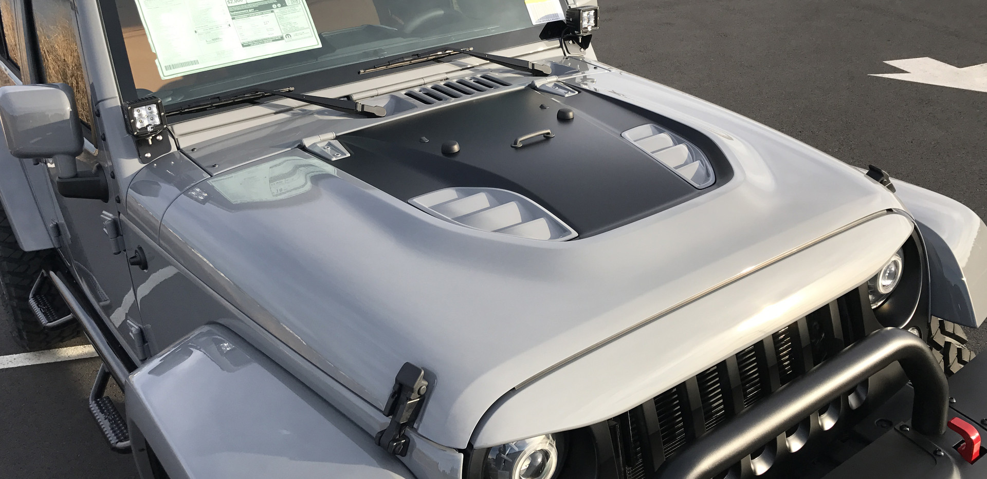 Grey and Black Jeep
