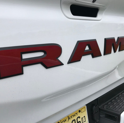 White Red and Black Ram