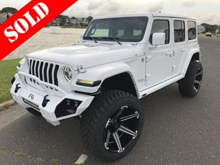 White & Black Jeep Wrangler